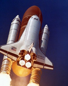 Space Shuttle and booster rockets