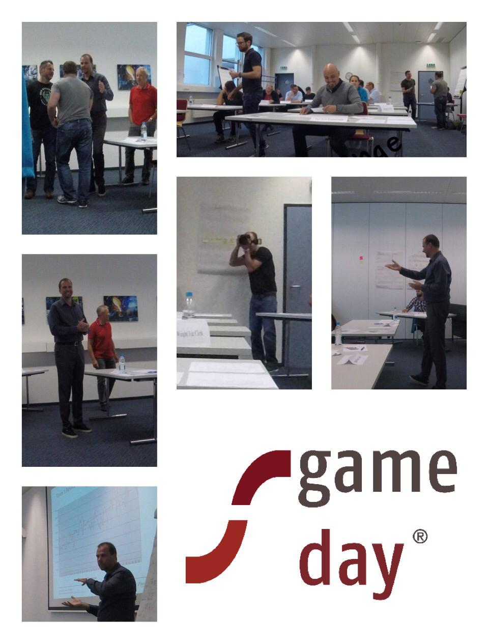 Pictures from a Game-Day with industrial clients